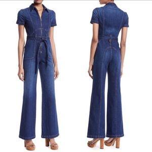 NEW AO.LA by Alice + Olivia Denim Jumpsuit Jeans